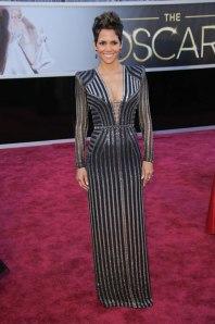 Halle Berry wearing Versace.