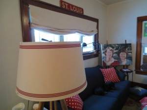 Pottery Barn lampshade.