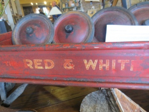 If it's old + is red -- I love it!  This is an old wagon from an old Red & White store.