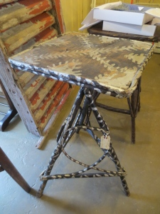 I love funky folk art + twig furniture!