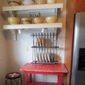 My countertop plate rack.