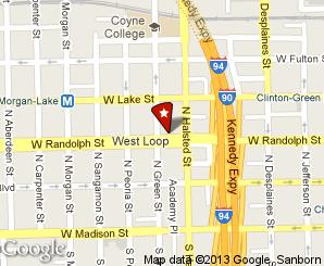 The diner is in the West Loop neighborhood