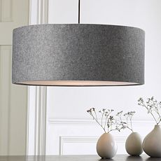 Seriously.  Gray felt drum shade light fixture.