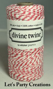 etsy red twine