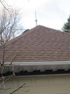 Kay's arbor + roof spire.
