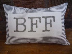 It wouldn't be too stalker-ish of me to send Ellen one of my BFF pillows . . . would it?