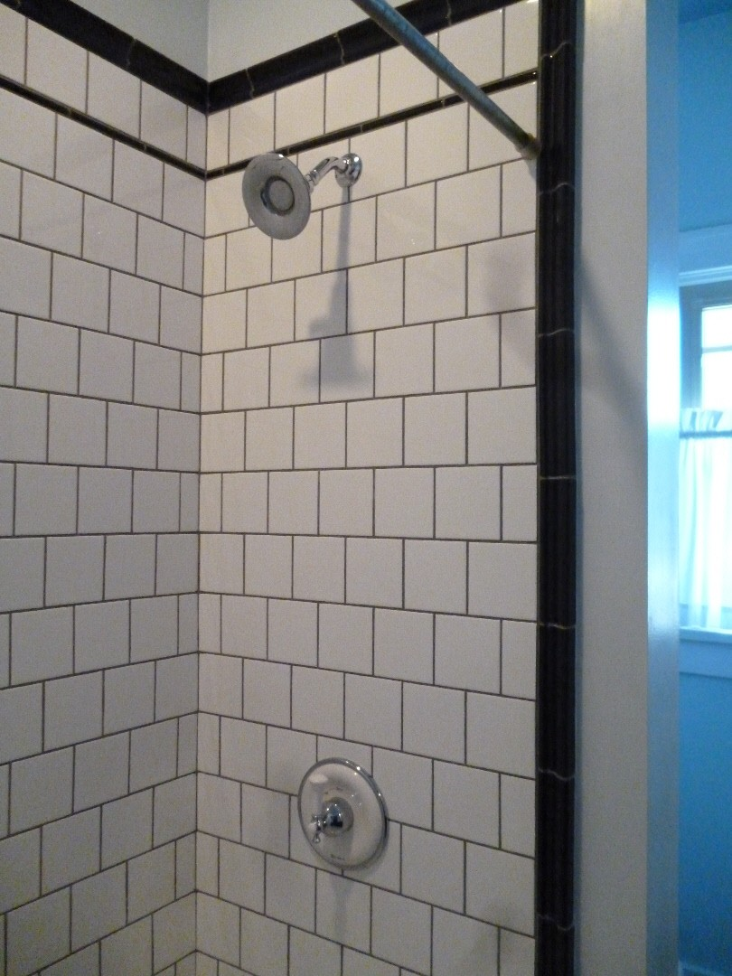 New Some Inspiration Just Look At The White Bathroom Tile With Grey Grout