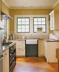 Small Black And Cream Cottage Kitchen With Italian Details P Italian