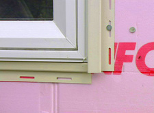 This is the J channel required by vinyl siding, to clad windows.
