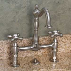 bathroom - bridge faucet cross handles