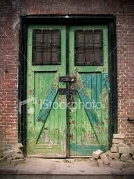 door pair of old green