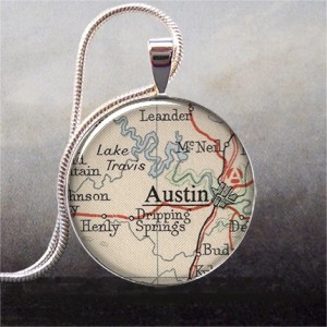 etsy purchase -- austin map pendant