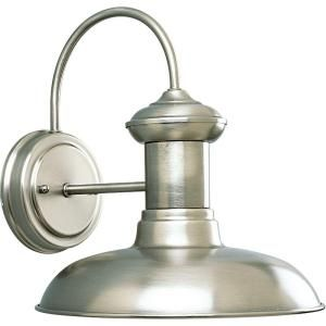 light fixture -- over the sink in brushed nickel