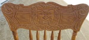 chair becky monster face