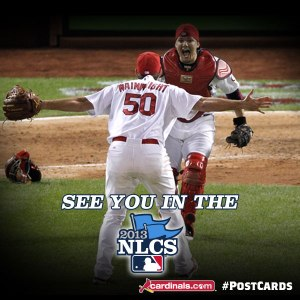 There they are, my 2 favorite Cardinals, pitcher Adam Wainwright + catcher Yadier (Yadi) Molina