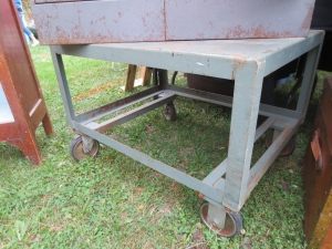 Who wants to make a coffee table from this industrial cart?
