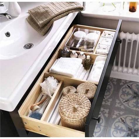 Bathroom vanity ikea with open drawer