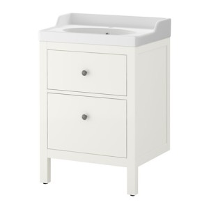 bathroom vantiy -- IKEA with country top