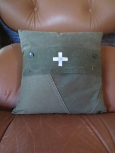 cabin christmas -- kay's army pillow