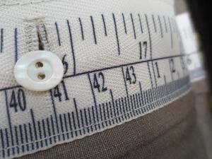 cabin christmas -- kay's tape measure close up