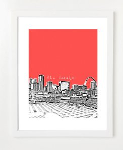 st. louis print from etsy