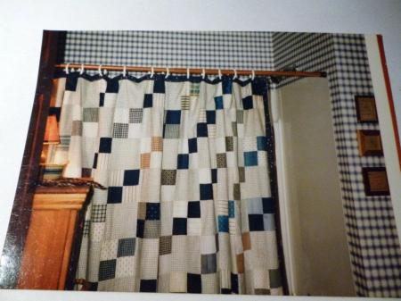 christmas -- apartment -- bathroom patchwork shower curtain