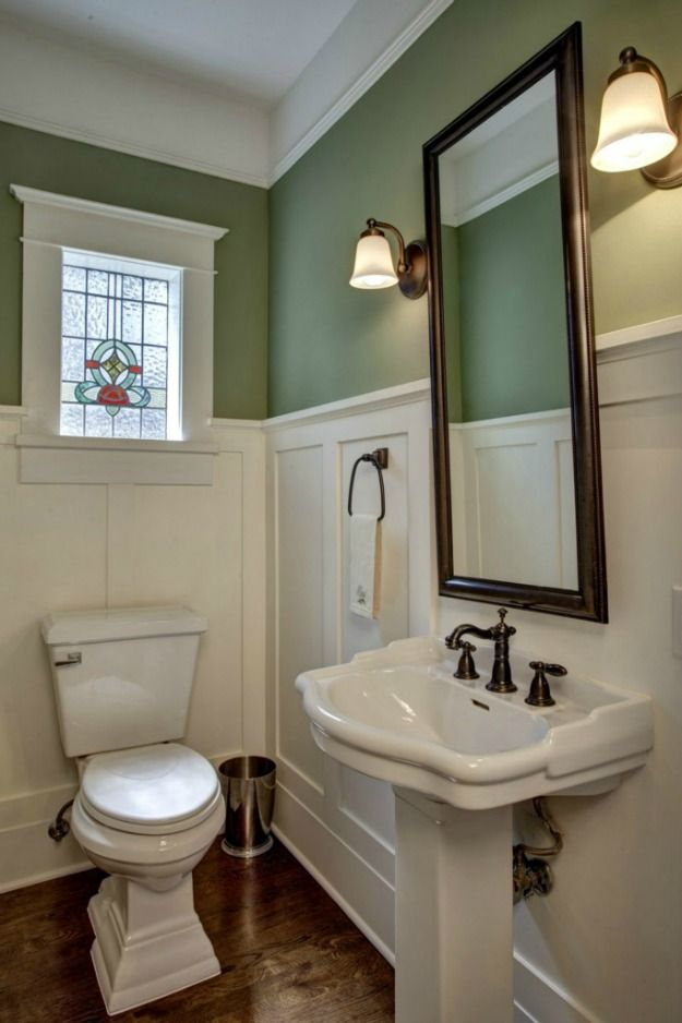 Wainscoting hopes dreams redbird - Arts and crafts style bathroom design ...
