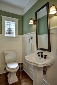 bathroom wainscoting -- hooked on houses.net