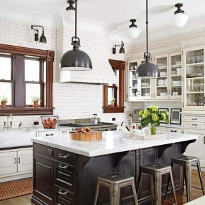 black + white dream kitchen