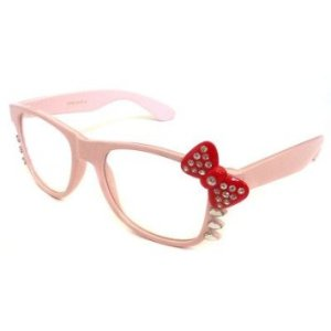 glasses frames -- hello kitty pink