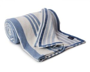 lexington co. blue striped blanket $303