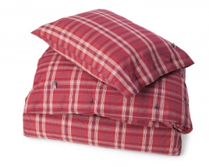 lexington co. red poplin check bedding