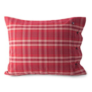 lexington red pillowcase