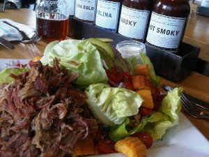 lillies Q salad with pulled pork