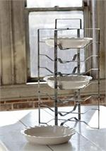 farmhouse antique style metal pie rack $59.95