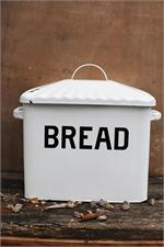 farmhouse vintage style enamel bread box $42.95