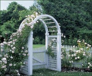 walpole woodworkers arbor with roses
