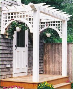 walpole woodworkers entry pergola