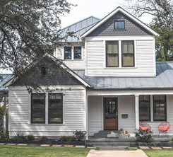 dutch colonial exterior gray + white