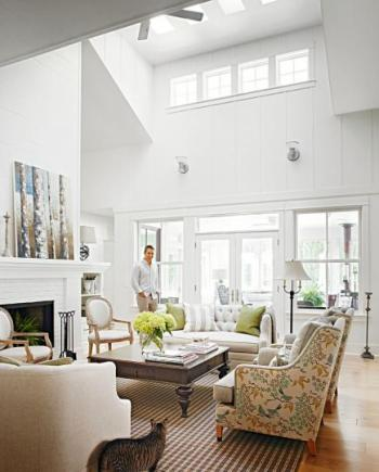 midwest living 2-story living room