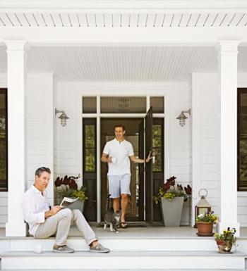 midwest living front door + porch