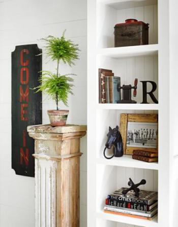 midwest living topiary on column, shelves