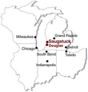 saugatuck map -- from chicago, etc.