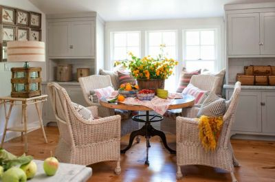 wicker dining chairs polished pebble