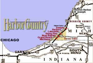 harbor country map