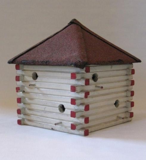 Folky wooden birdhouse