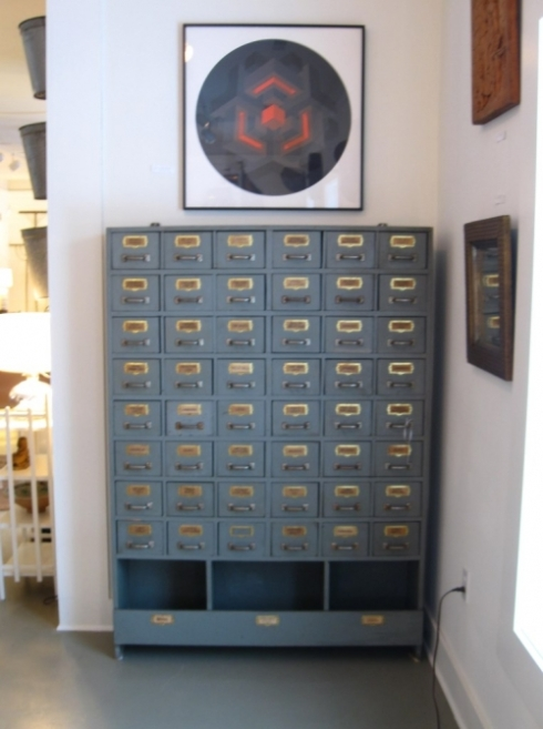 Parts drawers with original labels