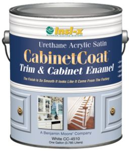 paint -- enamel for powder room cab  insl X