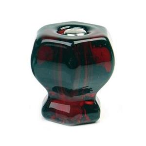 cabinet hardware -- red glass knob