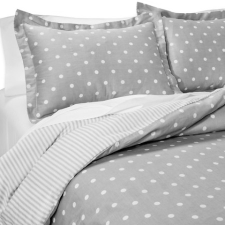 comforter -- gray dots and stripes!